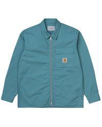 Carhartt WIP Lander Shirt Jac: Hydro - Blue