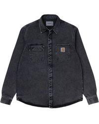 Carhartt WIP Salinac Shirt Jac: Black Worn Washed