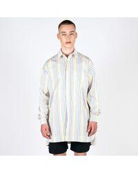 Lou Dalton Dropped Shoulder Rainbow Stripe Shirt - Multicolour