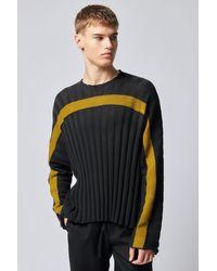 Eckhaus Latta Accordion Sweater Smoke Yolk - Multicolor