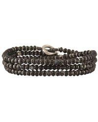 M. Cohen Agate Wrap Bracelet/necklace - Brown