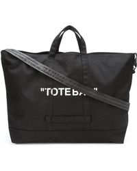 153bf1f9ed12 Off-White c o Virgil Abloh - Quote Tote Bag - Lyst