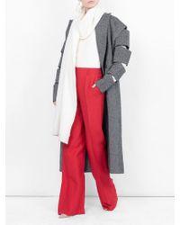 Christopher Kane Slash Sleeve Coat - Gray