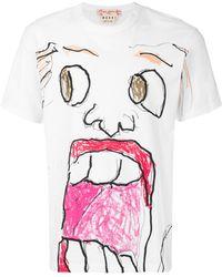 Marni - Face Print T-shirt - Lyst