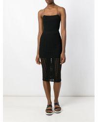 T By Alexander Wang Velvet Midi Skirt - Black