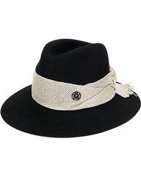 Maison Michel - Henrietta Frayed Band Hat - Lyst