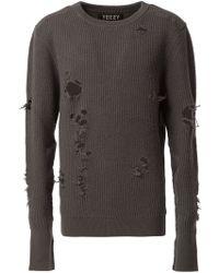 Yeezy Distressed Knit Jumper - Black