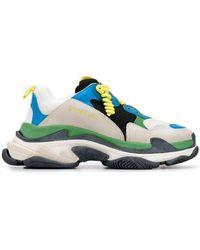 Balenciaga Multicolor Fabric Triple S Sneakers Multicolor - Blue