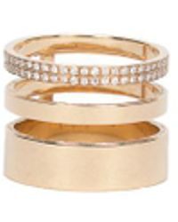 Repossi - Gold Ring 3 Rows - Lyst
