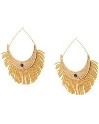 Aurelie Bidermann - Gold Fringe Earrings - Lyst