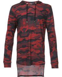 Balmain - Camouflage Hooded Sweatshirt - Lyst