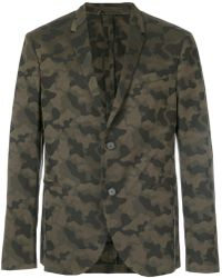 Neil Barrett Camouflage Blazer - Green