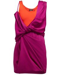 Atlein Hybrid Draped Dress - Pink