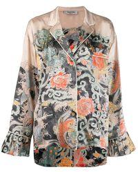 Valentino Japanese Tattoo Print Pyjama Shirt - Multicolour