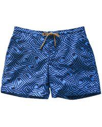 Thorsun - Maze Print Titan Swim Shorts - Lyst