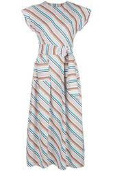 Isa Arfen Long Striped Dress - Blue