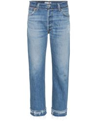 RE/DONE - Stove Pipe Released Hem Jeans - Lyst