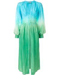 Attico - Silk-habotai Balloon- Sleeved Shirt Dress - Lyst
