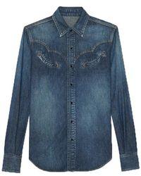 Saint Laurent Classic Western Shirt - Blue