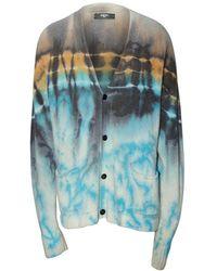 Amiri Tie Dye Cashmere Oversized Cardigan - Blue