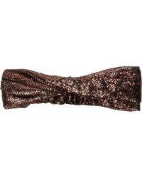 Maison Michel Simone Sequin Embellished Headband - Brown