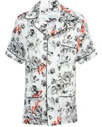 Off-White c/o Virgil Abloh X The Webster Exclusive Floral Pyjama Shirt - White
