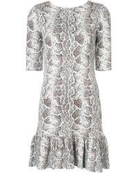 Chloé - Python Print Ruffled Dress - Lyst