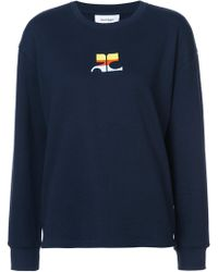 Courreges - Logo Embroidered Sweatshirt - Lyst
