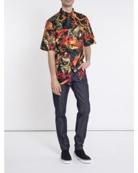 Givenchy - Short Sleeve Underground Printed Shirt - Lyst