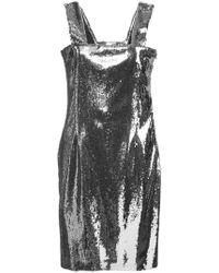 Galvan London - Chrome Mini Dress - Lyst