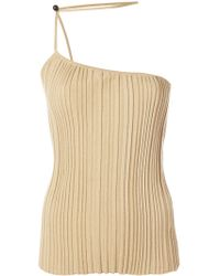 Jacquemus - 'le Top Pinhao' Ribbed Asymmetric Top - Lyst