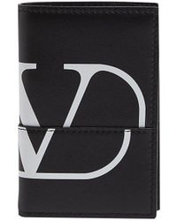 Valentino Logo Card Holder Case - Black