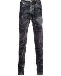 Fear Of God - Black Bleached Effect Slim-fit Jeans - Lyst