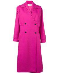 Valentino - Pink Tricotine Coat - Lyst