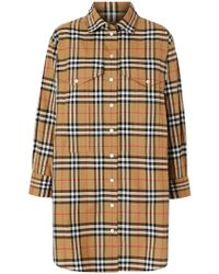 Burberry - Oversized Vintage Check Shirt Neutral - Lyst