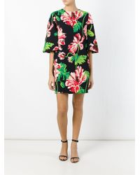 Stella McCartney Floral Print Tunic Dress - Black