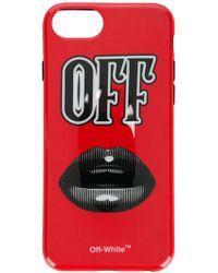 Off-White c/o Virgil Abloh - Monochrome Lips Iphone 8 Case - Lyst
