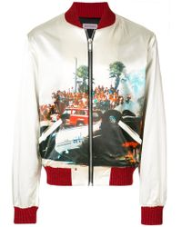 Palm Angels - Printed Bomber Jacket - Lyst