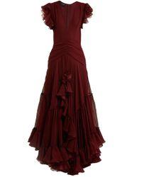 Giambattista Valli - Deep V-neck Silk-georgette Gown - Lyst