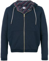 Moncler Maglia Zipped Hoodie - Blue