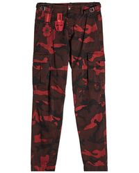 Valentino - Camouflage Cargo Trousers - Lyst
