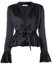 TOME | Tie Blouse With Frills | Lyst
