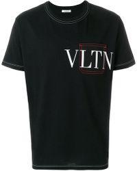 Valentino - Vltn Stitched Detail T-shirt - Lyst