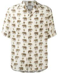 Gucci Elephant-print Voile Shirt