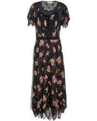 COACH - Embellished Forest Floral Print Dress - Lyst