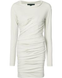 Alexander Wang - Bustier Ruched Mini Dress - Lyst