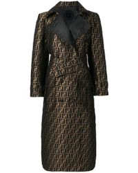 Fendi - Ff Motif Trench Coat - Lyst