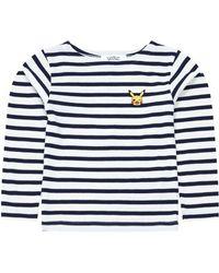 Maison Labiche X Pokemon Pikachu Sailor Long Sleeve T-shirt - Blue