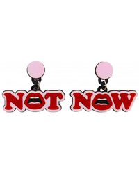 Yazbukey Not Now Earrings - Red