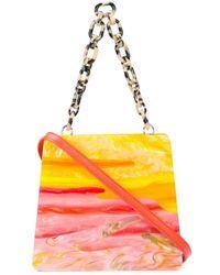 Edie Parker Sunset Structured Handbag - Yellow